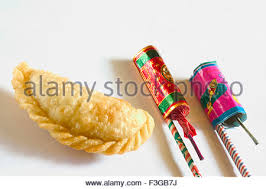 edible pasties home made three karanji fried sugar or jaggery pasties