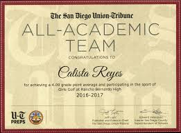 Madeline Leidy by Union Tribune Honors 4 064 Student Athletes The San Diego Union