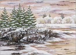 winter season winter siberian landscape stock illustration