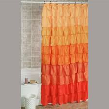 Ombre Ruffle Shower Curtain Ruffled Shower Curtains