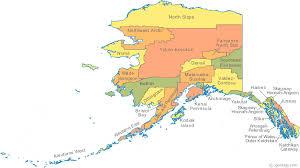 alaska major cities map map of alaska