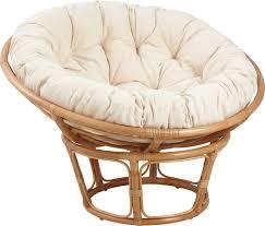 canap papasan fauteuil papasan en rotin avec coussin écru salons mezzanine and