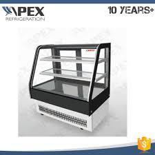 china tempered glass cake shop refrigerator showcase cooler for
