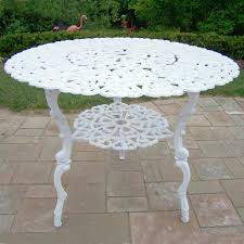 Patio Bistro Table by White Cast Aluminum Patio Furniture Home Design Ideas And Pictures