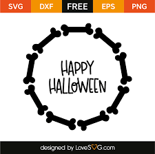 happy halloween monogram frame lovesvg com