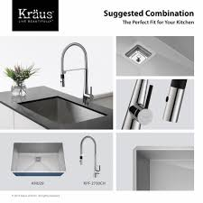 kitchen faucet kraususa com kraus crespo 8482 single handle commercial kitchen faucet with flex hose and quickdock installation