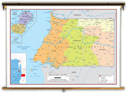 Guinea Africa Map by Equatorial Guinea Political Educational Wall Map From Academia Maps