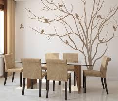 vinyl art realistic winter tree branch stick on wall art wall zoom