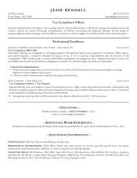 Sample Resume For Tax Preparer Example Tax Compliance Officer Resume Free Sample