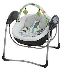 Amazon Baby Swing Chair Amazon Com Graco Glider Lite Baby Swing Bear Trail Baby