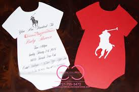 polo baby shower horsemen polo inspired onesie invitation creative collection by shon