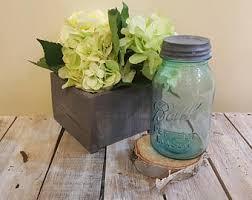 gray planter box etsy