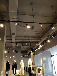 concrete ceiling lighting 39 painting of a retail space in lower manhattan all duct work