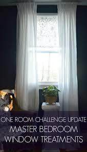 the bedroom window one room challenge update master bedroom window treatments