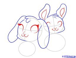 draw easter bunnies step by step drawing sheets added by dawn
