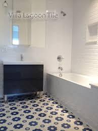 fair blue and white bathroom floor tile about home interior ideas