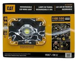 cat 324122 rechargeable led work light new cat rechargeable led work light 1100 high 550 low lumens ebay