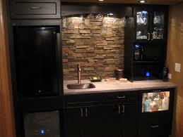 Kitchen With Stone Backsplash Kitchen With Stone Backsplash - Rough stone backsplash