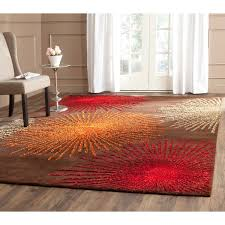 Square Wool Rug Safavieh Handmade Soho Burst Brown New Zealand Wool Rug 6 U0027 Square