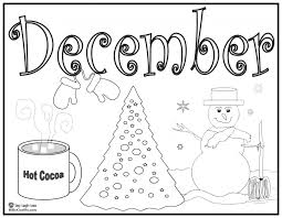 december coloring pages december coloring pages to download and