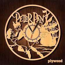 peter pan clock wooden clock hdf clock acrylic clock wall art