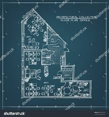 architectural handdrawn floor plan business office stock vector