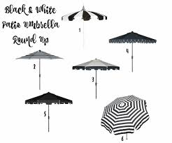 Black And White Patio Umbrella Thinking Of Styling The Pool Oasis The House Of Silver Lining