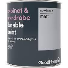 kitchen cabinet paint colors b q goodhome durable new matt cabinet wardrobe paint 750ml