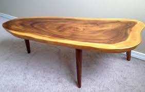 coffee table oak end table with pine log leg branch built custom