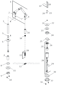 kohler karbon kitchen faucet kohler k 6227 c11 parts list and diagram ereplacementparts