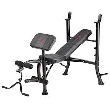 marcy eclipse be1000 barbell weight bench black red amazon co