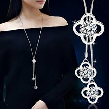 jewelry making necklace images Dolland women 39 s crystal four leaf clover jewelry jpg