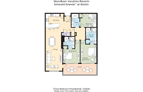 club wyndham wyndham vacation resorts emerald grande at destin 3 bedroom presidential floor plan