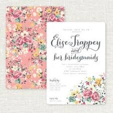 bridesmaid brunch invitations pink and green floral bridal luncheon save the date wedding