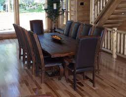 dark rustic dining table kitchen dark wood dining chairs with dark leather seat dark wood
