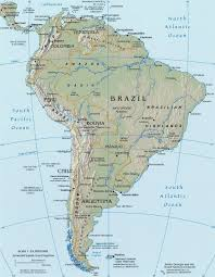 Physical Map Of South Africa by Latin America Physical Map Roundtripticket Me