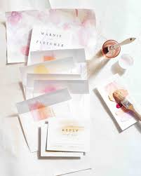8 tips for diying your wedding invites martha stewart weddings
