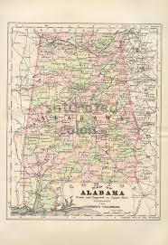 Map Of Al 30 Best Alabama Images On Pinterest Alabama Globes And Antique Maps