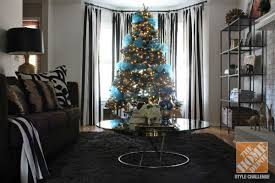 tree decorating ideas turquoise blue bronze