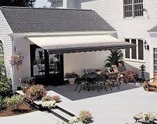 20 Ft Retractable Awning Awnings U0026 Canopies In Brand Sunsetter Features Retractable Ebay