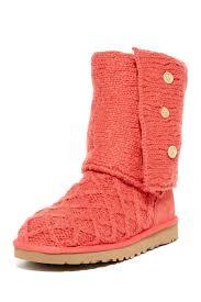 womens ugg dress boots ugg australia lattice cardy genuine sheepskin knit boot