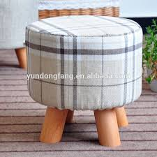 wooden frame print fabric covered colorful storage ottoman wooden