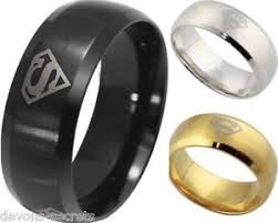 superman wedding band mens silver gold black wedding ring band many sizes k z4 s s new