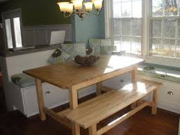 bench kitchen table add an upholstered bench for more seating for