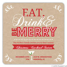 Cocktail Party Invite - kraft holiday eat drink be merry cocktail party invitation