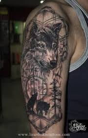 image result for wolf sleeve wolf ideas