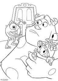 sulley coloring page sulley boo and mike wazowski coloring pages hellokids com
