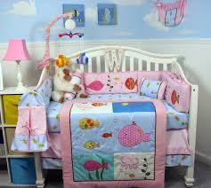 Monkey Baby Crib Bedding Pink Ocean Crib Set Baby Room Decorating Under The Sea Baby