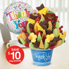 thank you basket thank you gifts fruit arrangements bouquets edible arrangements