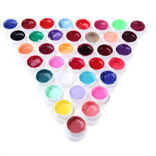 anself 36 color nail art pigment set uv gel polish solid glue